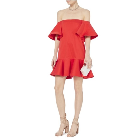 dc6f57c99ef NWT Alexis Aliana Off the Shoulder Red Dress